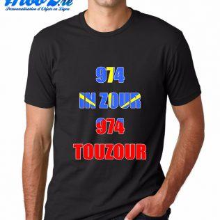 T-SHIRT 974<br>974 in zour 974 touzour