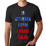 T-SHIRT 974<br>En attendan cabri i manze salad