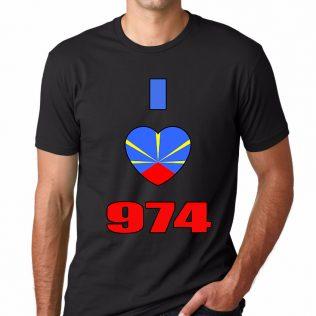 T-SHIRT 974<br>I love 974